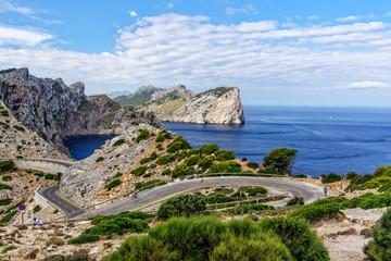 Wandern Fahren Strasse Cap de Formentor Mallorca
