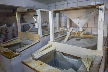 old stone mill still produces flour