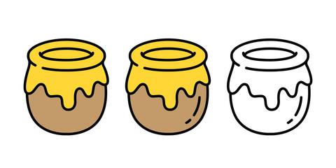 honey vector bear bee polar bear food bakery bake jam cartoon character illustration