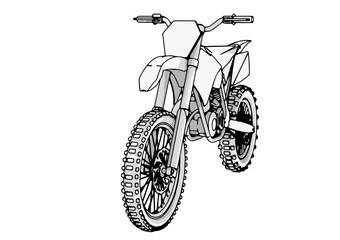 sketch motorcycle vector