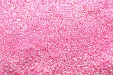 Shiny pink sequins, closeup