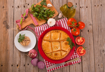 Spanish tuna pie.