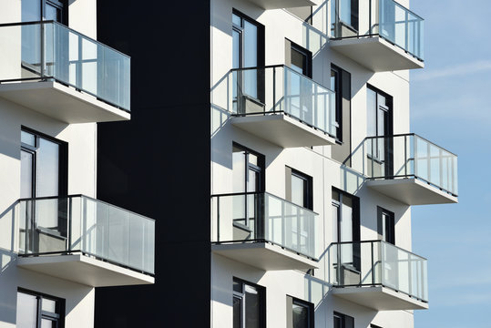 Balconies at modern architecture