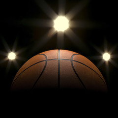 Basketball close-up on studio background - Stock image