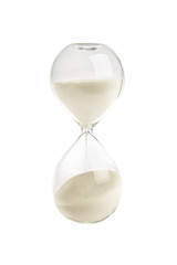 Hourglass isolated on white background