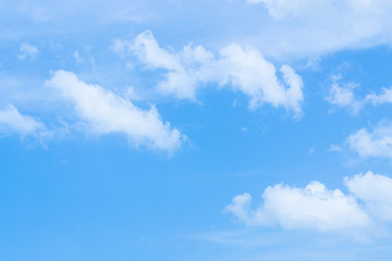 Sky with white clouds in summer.