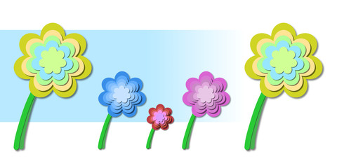 abstract floral theme - springtime flowers illustration backdrop