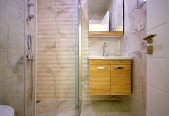 Modern Small Bathroom and Shower Cabin