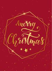 vintage Christmas greeting card design