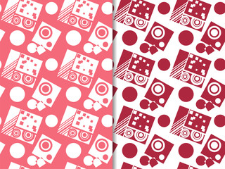 Geometric seamless pattern. Square and circles