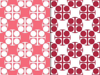 Seamless geometric abstract pattern with circles and rings
