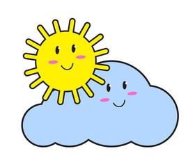 Солнце и облако