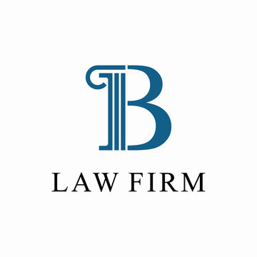 Initial B for law firm Logo design template