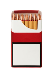 Cigarettes with a bullet as a concept of the danger of smoking