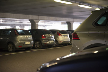 Underground car parking of a shopping center