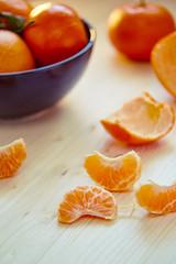 juicy ripe tangerines and oranges