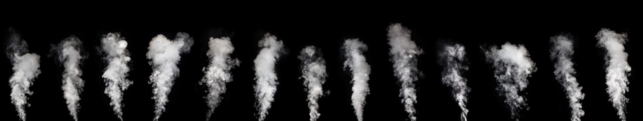 Aluminium Prints Smoke Abstract smoke on a dark background