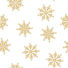 Snowflakes seamless pattern for Christmas packaging, textiles, wallpaper vector illustration.