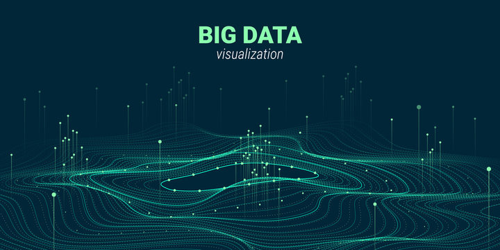 Abstract 3D Big Data Visualization.