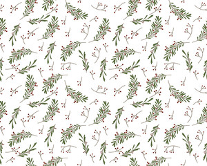 Seamless New Year pattern in vector
