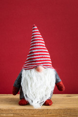 a Christmas gnomes with white beards