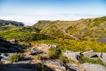 Pico do Arieiro mountain range viewpoint, located in Madeira island, Portugal.