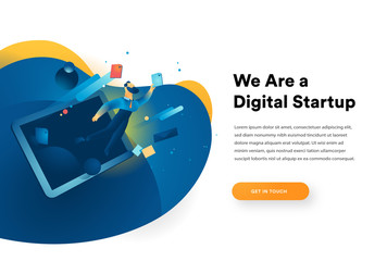 Homepage for a digital startup website