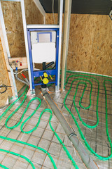 in-wall flush system installation for wall-hung toilet