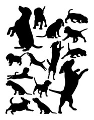 Beagle dog animal silhouette. Good use for symbol, logo, web icon, mascot, sign, or any design you want.