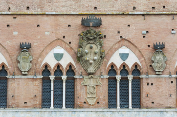 Wall Mural - Exterior of Piazza del Campo in the historic center of Siena, Tuscany, Italy, Europe