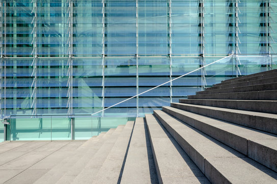 modern architecture and steps