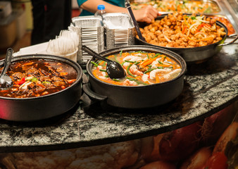 Traditional food exposed in Camden Town market, London