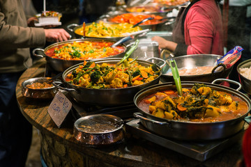 Traditional food exposed in Camden Town market