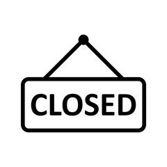 closed line black icon