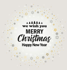 Vector illustration Merry Christmas card, Happy New Year background