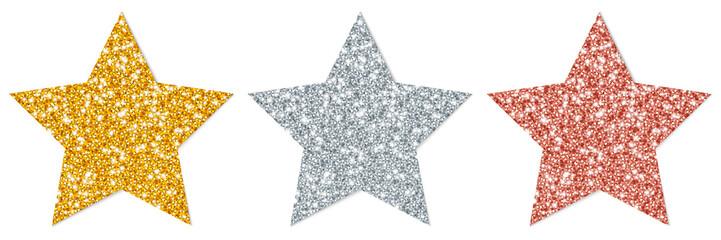 Stars Sparkling Gold/Silver/Copper