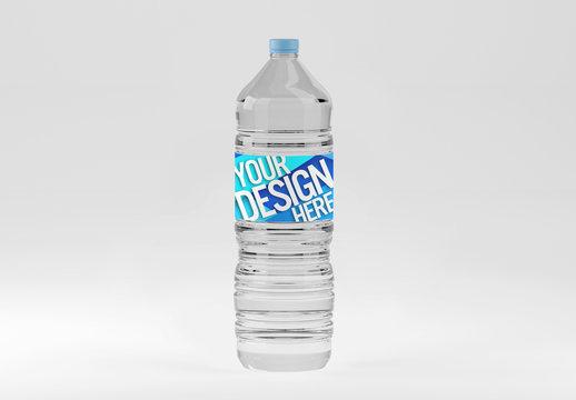 Plastic Water Bottle Mockup