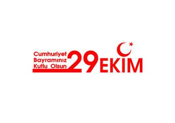 October 29 Republic Day Turkey. 29 ekim Cumhuriyet Bayrami.Translation: 29 october Republic Day Turkey and the National Day in Turkey. celebration republic, graphic for design elements. Vector illustr
