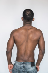 Anonymous shirtless black man