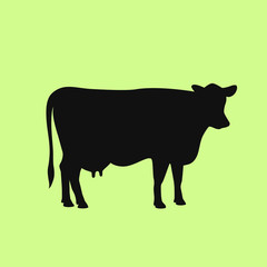 Cow silhouette vector icon