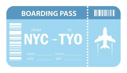 Plane ticket vector icon