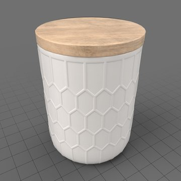 Jar with honeycomb pattern