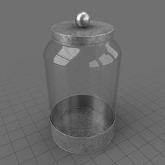 Empty glass canister 2