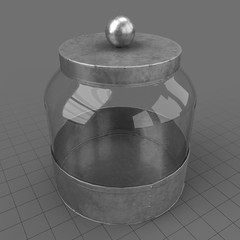 Empty glass canister 1