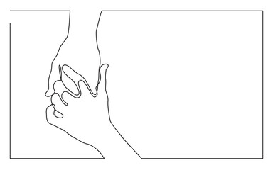 continuous-line-drawing-two-hands-showing-victory-sign