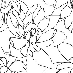 Colored seamless flowers pattern, ornament. Vector illustration.