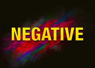 Negative colorful paint abstract background