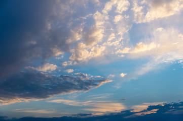 Sky tones of a warm summer night