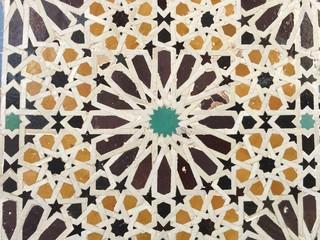 Moroccan design tiles mosque