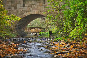 Stone bridge over a creek